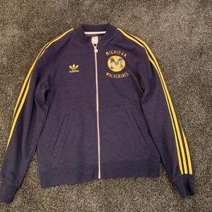 Men's Adidas Michigan Wolverines full zip sweater